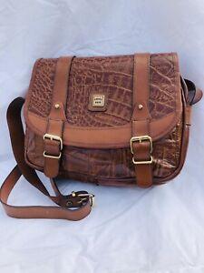 VINTAGE TAN LEATHER Shoulder Saddle Bag 1970's Boho Satchel FIRENZE BAGS