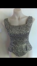 Ladies Fitted Corset Top ALESSANDRA ASHLIE Size Small 8-10 Gold Leopard Formal