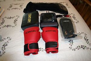 Century Brave YOUTH XS Martial Arts Set Hand Targets, 6 oz Gloves, Shin Guards