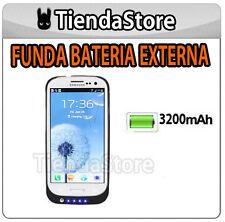 Funda bateria externa compatible GALAXY S3 I9300 POWER BANK Carga extra NEGRA