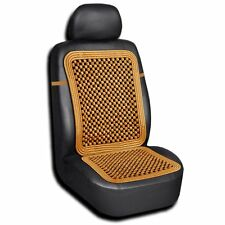 Zento Deals Tan-Wood Auto Bead Vehicle Massage Seat Cushion Home Chair Car Cover