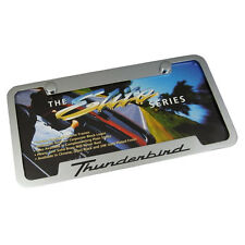 Ford Thunderbird Notched Chrome Brass  License Plate Frame