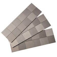 Aspect Peel and Stick Backsplash Square Matted Metal Tile