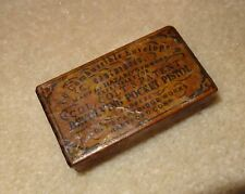 Antique REPO Civil War Colt Pocket Pistol Combustible Cartridge Ammo Box .31