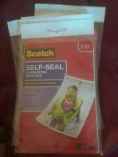 Scotch Self Sealing Laminating Pouches Glossy Finish 4 38 X 6 38 Inches