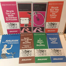 RALEIGH BICYCLE BROCHURES 1972 - 74 SAFETY MAINTENANCE  ETC. VG+ VERY CLEAN