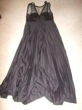 vintage retro 60s 70s black pleated Eurofashion sheer lace top dress 8 10  prom