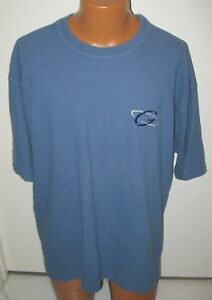GOLD'S GYM - XL - BLUE  -THERMAL  KNIT - SHORT SLEEVE CREW NECK TOP