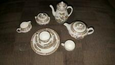 WEDGWOOD MINIATURE CHILDS BIDEFORD PATTERN TEA COFFEE SET CUP SAUCERS AND PLATES