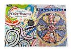 Flower Patterns  Design Patterns Adult Kids Coloring Book Series Books 2 Pack