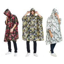 Outdoor Camouflage Waterproof Hooded Poncho Outdoor Camping Hiking Rain Cover