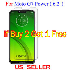 "1x Clear LCD Screen Protector Guard Cover Film For Motorola Moto G7 Power (6.2"")"