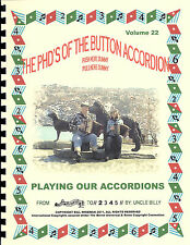 """ACCORDION SONG BOOK WITH CD """"PLAYING OUR ACCORDIONS"""" PLAY BY NUMBERS"""
