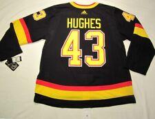 QUINN HUGHES size 56 XXL  Vancouver Canucks Black Skate ADIDAS jersey PRO CUSTOM