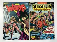 WARP #5 (1983), STARSLAYER #9 (1983)   1ST FIRST CAMEO & PREVIEW GRIMJACK
