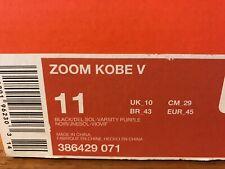 Zoom Kobe IV (POP) White/Black- Del Sol-Vrsty Prpl Size - 11 Deadstock- Unopened