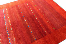 "5'7""x7'9"" Glasgow Design Red Gabbeh  Woollen 100% Hand Knotted Rugs & Carpet"