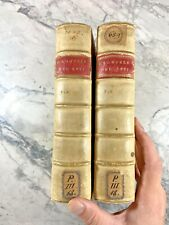 """1692 Antique Vellum Books """"History of Oliver Cromwell""""  First Italian Edition"""