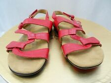 VIONIC Red Patent Strappy Sandals Size 10 Comfort Shoes Paros