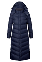 Women Plus size Hooded Winter Warm Full Length Padded Quilted Puffer Coat Jacket