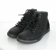 11-36 NEW $130 Men's Sz 9 M Keen Glenhaven Leather Mid Sneaker Boots In Black
