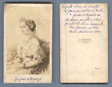 Impératrice Eugénie vintage CDV albumen carte de visite,  CDV, tirage albuminé