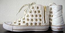 Ash VOX caviglia-Sneaker Scarpe da Donna Chucks waxnappa/Syntetik Bianco Oro gr37 NUOVO