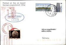 Schiffspost Schiff MV ESAV RAULI Automatenbriefmarke Paquebot Brief Callao Peru