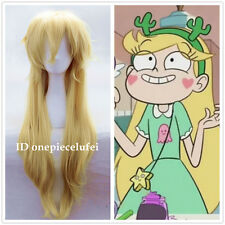 Star Vs the Forces Of Evil Wig Long Blonde yellow cosplay Wigs +a wig cap