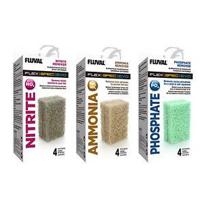 Fluval Ammonia Phosphate Nitrite Remover Set for Spec Flex Evo Tanks