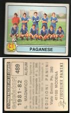 Figurina Calciatori Panini 1981-82! N.489! Squadra Paganese! Nuova!! ▓