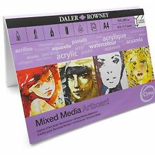 Daler Rowney Mixed Media Painting Art Board Canvas - 10 x A4 Sheets - Made in UK