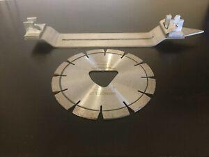 O'Neill Diamond Tools 6'' Soff Cut Diamond Blade and skid plate