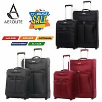 CLEARANCE Aerolite Expandable Super Lightweight Hand Luggage Cabin Suitcase Bags