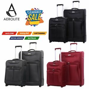 CLEARANCE Aerolite Lightweight Hand Luggage Cabin Suitcase Bags Ryanair easyJet