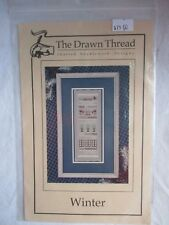 New WINTER THEME embroidery sampler pattern/Design, Was $19, Pine Trees+Snow