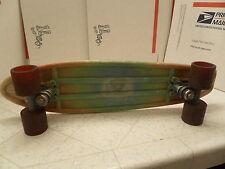 "Vintage 1970's old school skateboard Alamo plastics California Huge Wheels 23"""