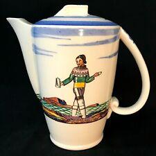 "Vintage Vernon Kilns SALAMINA Rockwell Kent 8"" Coffee Pot w/ Lid"