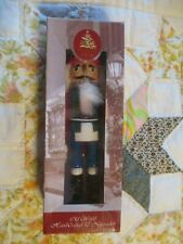 """Enchanted Forest Old World Hand Crafted 10"""" Wooden Nutcracker King Year 2004 New"""