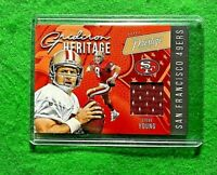 STEVE YOUNG GRIDIRON HERITAGE PATCH SAN FRANCISCO 49ERS 2020 PRESITGE FOOTBALL