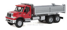 11662 SceneMaster HO International Red 7600 Heavy Duty 3 Axle Dump Truck HO 1/87