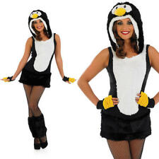 Ladies Womens Black Sexy Penguin Fancy Dress Costume Christmas Animal  Outfit M