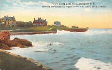 Cliff Walk, Newport, RI Jones, Drexel, Pearson Homes ca 1910s Vintage Postcard