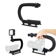 Black C / U Shaped Bracket Holder Stabilizer Video Handheld Grip For DSLR Camera