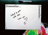 A4 Reminders Family Fridge Whiteboard Message Board Magnet Home Office Memo Pens