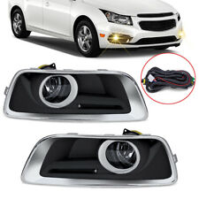 For 2013-2015 Chevy Malibu Clear Fog Lights Bumper Driving Lamps w/ Switch+Bezel