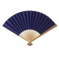 Koyal Wholesale Decorative Paper Fans, Royal Blue, Set of 40 - AMbx11O