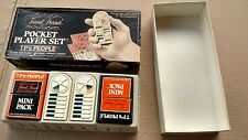 Vintage Trivial Pursuit Pocket Player Set Boob Tube 1987 Travel Game  in Box