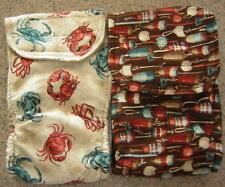 2 CRABS & BOBBERS BELLY BAND YORKIE CHIHUAHUA ITALIAN GREYHOUND DOG DIAPER