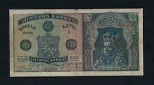 Lithuania 100 Litu Banknote 1922 11 16 Vytautas The Great Extremely Rare
